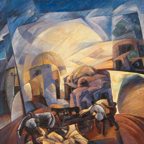 Village oriantal - Oil on canvas - 100x100 - 2007