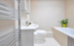 Ultra modern bathroom. Soaking tub, vanity, heated towel bar