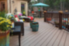 PVC deck, brown,patio set with outdoor seating