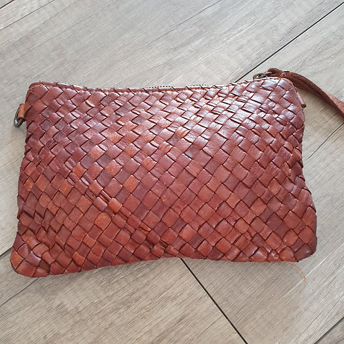 Pochette Cuir Tressée Made in Italy