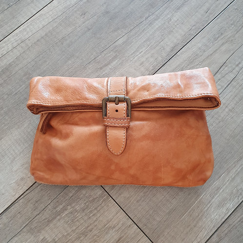 Pochette Cuir Camel Made in Italy