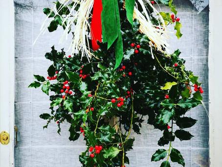 Décors de Noël au Sanglier Hirsute