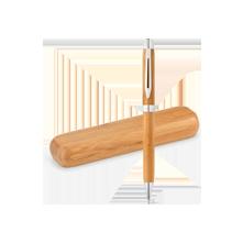 Boligrafo Bambú con estuche madera