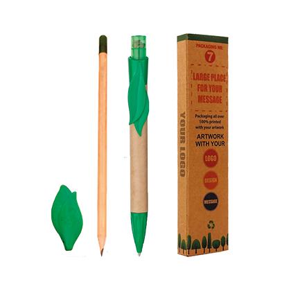 Set Lápiz y Bolígrafo con Semillas y Goma