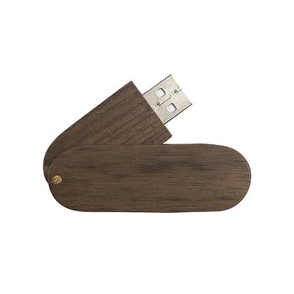 Memoria USB rotatoria de madera