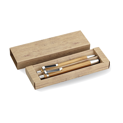 Set Bambú Bolígrafo y Portamina