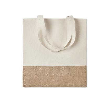 Bolsa de compra - algodón y yute