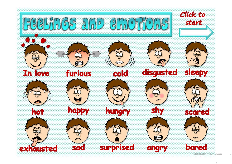 Картинки чувства на английскому