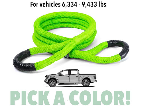 """7/8"""" Ultimate Kinetic Recovery Rope (28,300 lb MTS, 9,434 lb WLL)"""