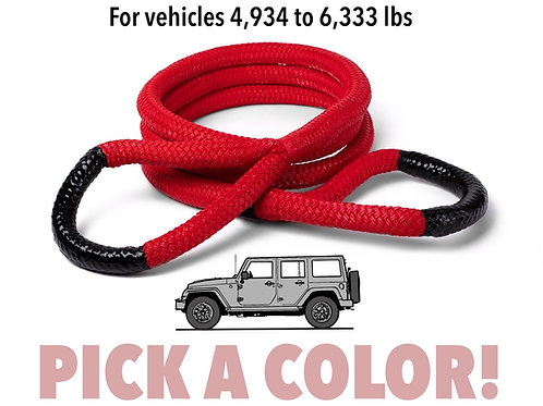 """3/4"""" Ultimate Kinetic Recovery Rope (19,000 lb MTS, 6,334 lb WLL)"""
