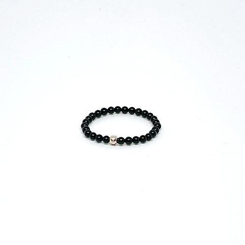 Semi-Precious Stone Ringlet-Black Onyx