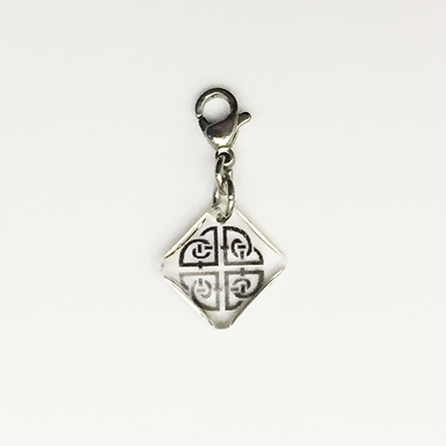 Hand crafted resin charm, Celtic knot, Shield knot, Brave House Designs, Charms of Change