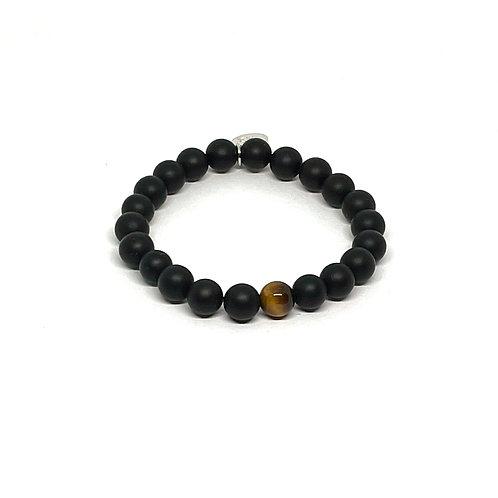 Black Onyx & Tiger's Eye Bracelet
