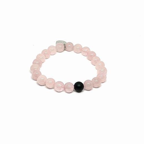 Rose Quartz & Black Onyx Bracelet