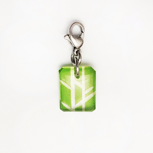 Hand crafted resin charm, Bamboo, Resilient, Brave House Designs, Charms of Change