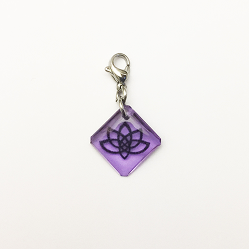 Hand crafted resin charm, Lotus, Believe, Inner strength, Brave House Designs, Charms of Change