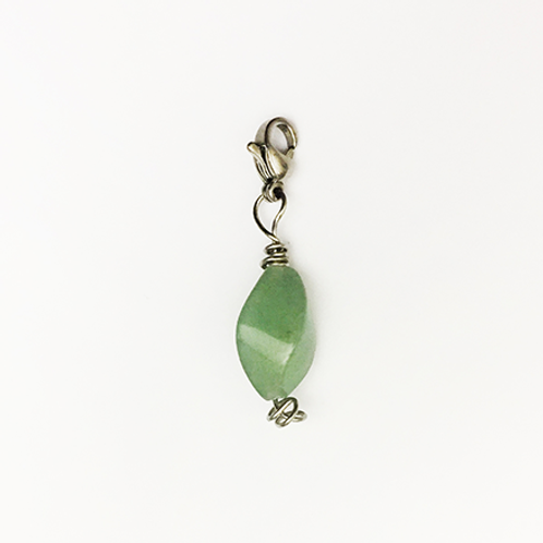 Natural stone charm, Green aventurine, Respect, Brave House Designs, Charms of Change