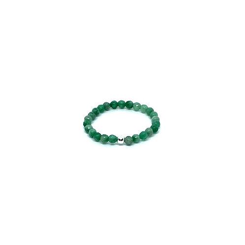 Semi-Precious Stone Ringlet-Green Agate