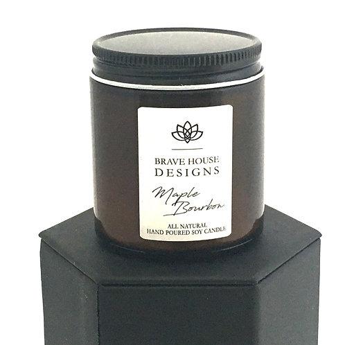 Maple Bourbon Soy Candle-4 oz