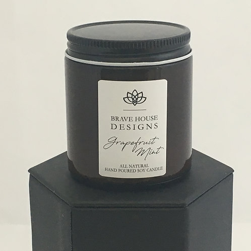 Grapefruit Mint Soy Candle-4 oz