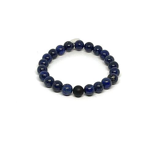 Lapis Lazuli & Black Onyx Bracelet