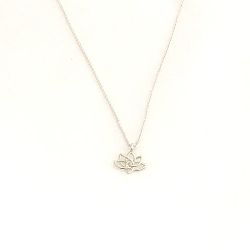 Sterling Silver Necklace-Lotus