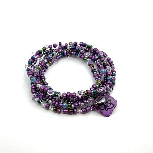 Purple Lotus Necklace