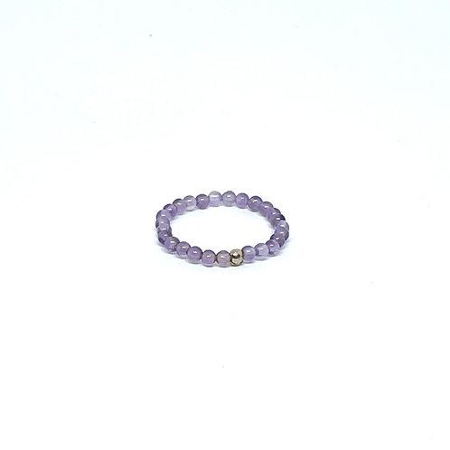 Semi-Precious Stone Ringlet-Amethyst