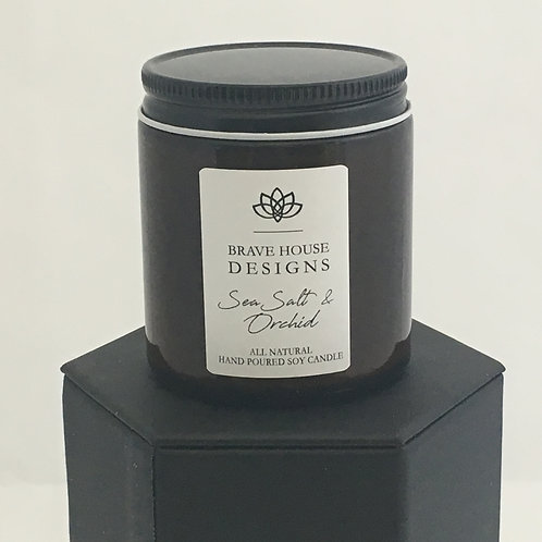Sea Salt & Orchid Soy Candle-4 oz