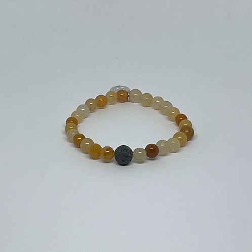 Citrine Bracelet with Lava Stone