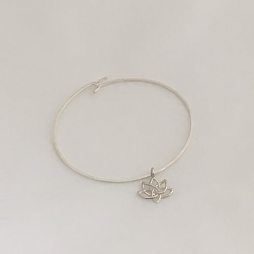 Sterling Silver Bracelet-Lotus