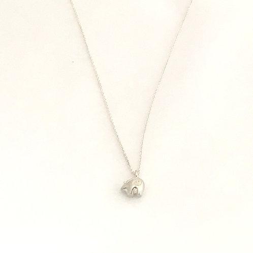 Sterling Silver Necklace-Zuni Bear