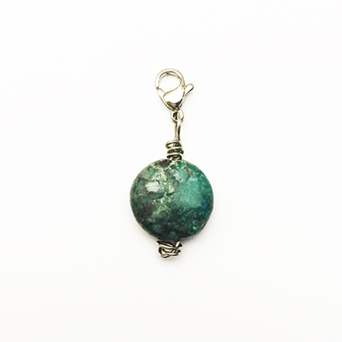 Natural stone charm, Chrysocolla, Be heard, Brave House Designs, Charms of Change