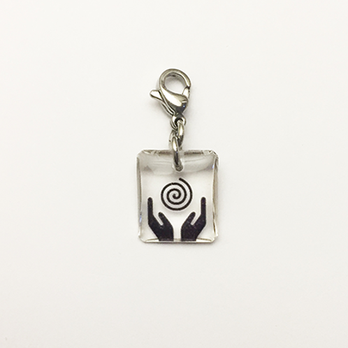 Hand crafted resin charm, Cupped hands, Empower, Brave House Designs, Charms of Change