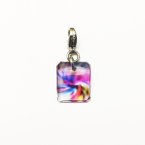Hand crafted resin charm, Color swirl, Respect, Brave House Designs, Charms of Change