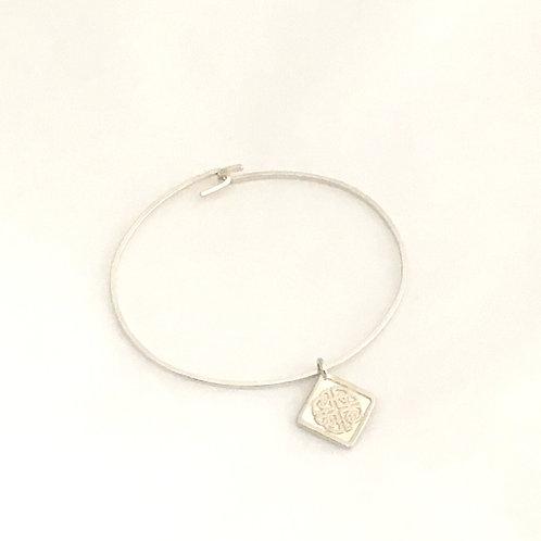 Sterling Silver Bracelet-Shield Knot