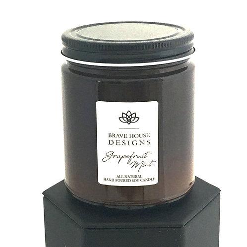 Grapefruit Mint Soy Candle-9 oz