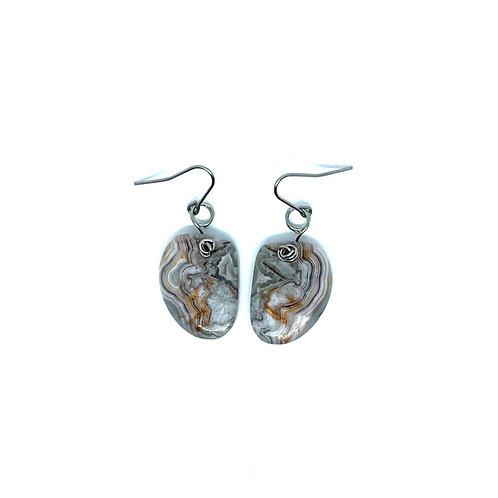 Laguna Lace Agate Earrings