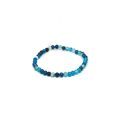 Semi-Precious Stone Bracelet-Blue Agate