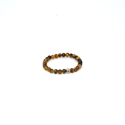 Semi-Precious Stone Ringlet-Tiger's Eye