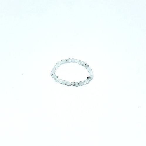 Semi-Precious Stone Ringlet-Rainbow Moonstone