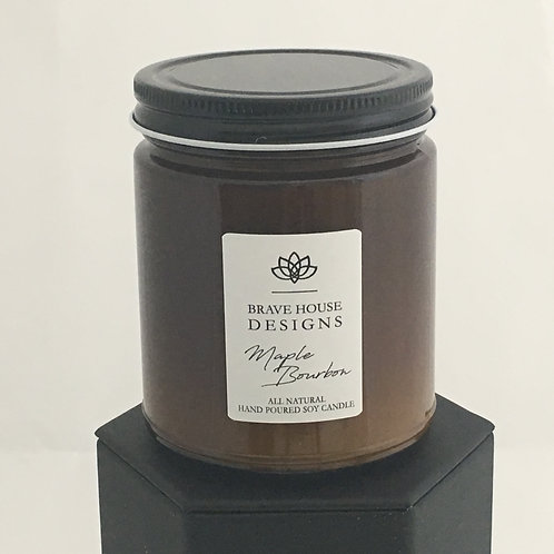 Maple Bourbon Soy Candle-9 oz