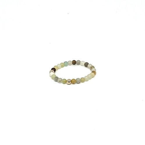 Semi-Precious Stone Ringlet-Amazonite