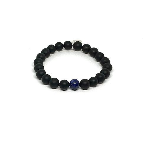 Black Onyx & Lapis Lazuli Bracelet