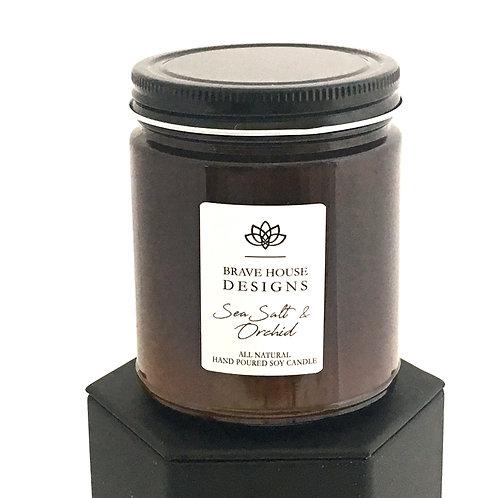 Sea Salt & Orchid Soy Candle-9 oz
