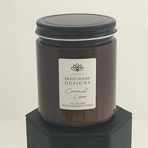 Coconut Lime Soy Candle-9 oz