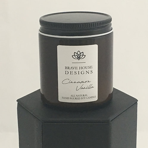 Cinnamon Vanilla Soy Candle-4 oz
