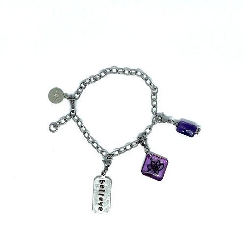 Bracelet + 3 charms
