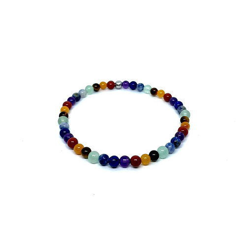 The Seven Chakras Bracelet Mix-4mm