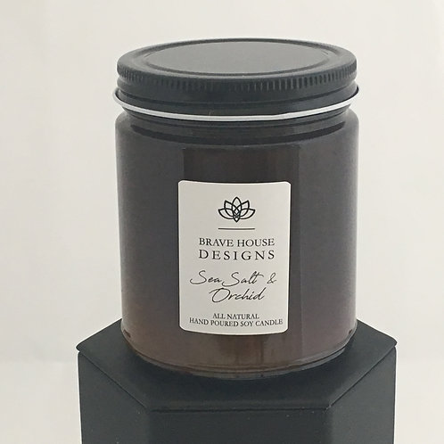 Sea Salt & Orchid Soy Candle-9 oz